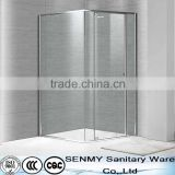 Easy clean free standing glass shower panel door