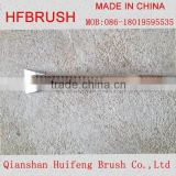 Wooden hand brush with sharp steel