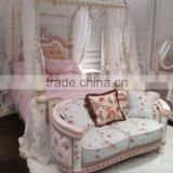 Top luxury Princess Style furniture princess kids bedroom furniture set for real baby princess