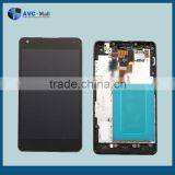 low price china mobile LCD and touch screen assembly w/frame for LG Optimus G E975 black