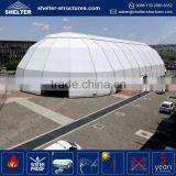 Aluminum alloy frame party wedding tent 18x25 polygonal marquee tent aluminium structure with portable outdoor bar gazebo