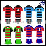 customized classical strips Rugby uniform, Team sublimation rugby kit, Club Rugby trainning jersey