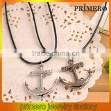 PRIMERO Fashion diamond rhinestone necklace Stainless steel male and female couple necklace anchor infinity necklace