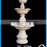 Outdoor water fountain 3 tiers