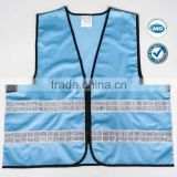 blue safety vest with PVC reflective tape