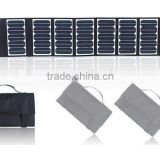 High Efficient Movable Flexible 60w foldable solar charger for the mobile phone laptop other electrical equipments