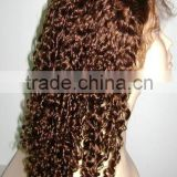 100% Indian remy curly long cheap full lace wigs