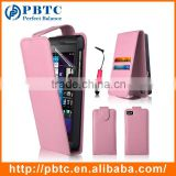 Set Screen Protector Stylus And Case For Blackberry Z10 , Pink Wallet Leather Case For Mobile Phone