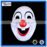 Most popular 1.0mm thick pvc funny clown mask, funny halloween red nose carnival clown mask