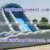 Interesting outdoor high quality double lane giant inflatable slide for adults and children, inflatable water slide SP-SL017