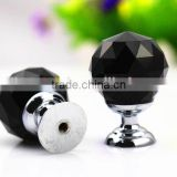 Black Round Diamond Ball Crystal Furniture Handle For Wedding Decoration