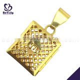 Hot selling hollow golden stainless steel diffuser necklace                                                                                                         Supplier's Choice
