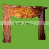 Popular home stone decoration marble antique fireplace french from Vietnam