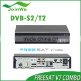 Satellite Receiver Wifi 1080p Hd Fta Satellite Receiver V7 Combo Dvb-s2/t2 Set Top Box Support Powerv