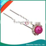 20pcs Charming Rose Red Pearl Hair Pins For Sale