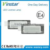 2015 new product FOR RENAULT car License plate light for Espace/Scenic/Laguna II led car lighting