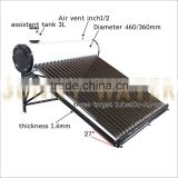 New vacuum tube solar water heater, Black tank cover and support frame, Vacuum Tube solar water heater with ISO CE CCC