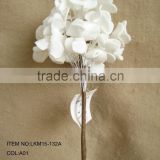 "2015 Hot sales decorative new special Artificial Dyed Eva Flower hydrangea 17"" Succulent long Stem for Home Decoration"