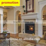 2 sided corner wooden fireplace