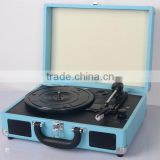 Modern Turntable Vinyl Record Player Suitcase Gramophone with PC Recording Wholesales