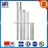 Stainless steel porous metal filter element