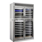 Shentop stainless steel wine refrigerator double doors wall mounted wine cooler compressor refrigerated wine STQ-003