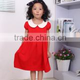 western children's cotton Christmas frock baby girls new fashion boutique red frock design for Christmas