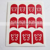 Wholesale DIY hollow out butterfly nail sticker designed template resuable nail art stencil