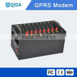 Low cost 2G GSM gprs modem pool support at command for bulk sms mms voice -Qida QS80 gps ethernet module