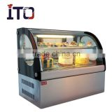 RI-900 Curved Glass Cake Display Refrigerator Bakery Showcase
