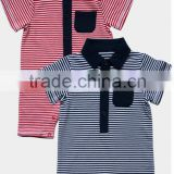 2016 summer cotton stripe polo baby romper with short sleeve