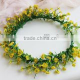 Artificial plum blossom Flower Bridal Hair Accessory Head Wreath Garland For Wedding Prom Party And Christmas Decoration