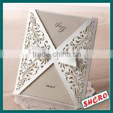 Laser Cutting Wedding Invitations Cards+Envelopes Silk Printing