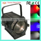 Amazing Quad Profile Zoom 4in1 RGBW 300w Fresnel Video Studio Theater LED COB Spot Light