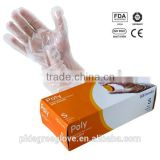 High quality Clear disposable PE glove/HDPE glove/poly glove house cleaning