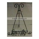 XY13449 Home decorative handicrafts gift metal family picture display shelf, wrought iron wall plate hanger