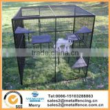 6'X8'welded wire small animal cage 7'tall fully enclosed bird aviary monkey breeding cage