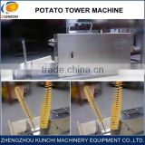 Stainless Steel High Efficiency Potato Tower Slicer/Manual And Electric Potato Tower Slicing Machine