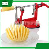 multipurpose aluminium alloy stainless steel 3 in 1 manual roto rotary fruit apple corer slicer zester peeler