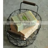 wholesale wire baskets gift baskets stainless steel soap basket wire mesh storage baskets
