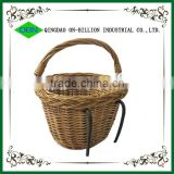 Removable bicycle basket bicycle front basket wicker bicycle basket
