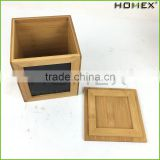 Bamboo Kitchen Accessory Container Coffee Canister Homex BSCI/Factory