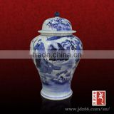 Antique style excellent quality blue and white porcelain ginger jars for home storage