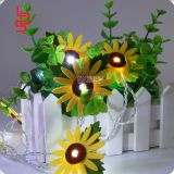 non-woven fabrics holiday decoration sunflower high bright color made in china best seller holiday decoration light sets