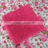 Wholesale baby fashion hot pink crochet tube tops with lining