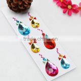 crafts gem stickers, well-being and charming crystal stickers, rhinestone stickers