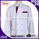 WRAP audited factories restaurant staff uniforms fitted executive chef coats for men