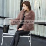 2017 autumn and winter women's new short high quality fur jacket real Ostrich feather fur coat