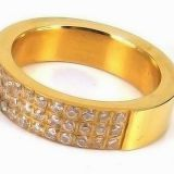 18K Gold High Polished Stainless Steel  Ring For Marriage Ring