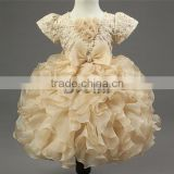 Wholesale Little Baby Girl birthday Party dress evening bowknot Princess dress bubble skirt for 2--6 years old